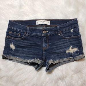 Gilly Hicks Dark Wash Distressed Cut Off Shorts 4